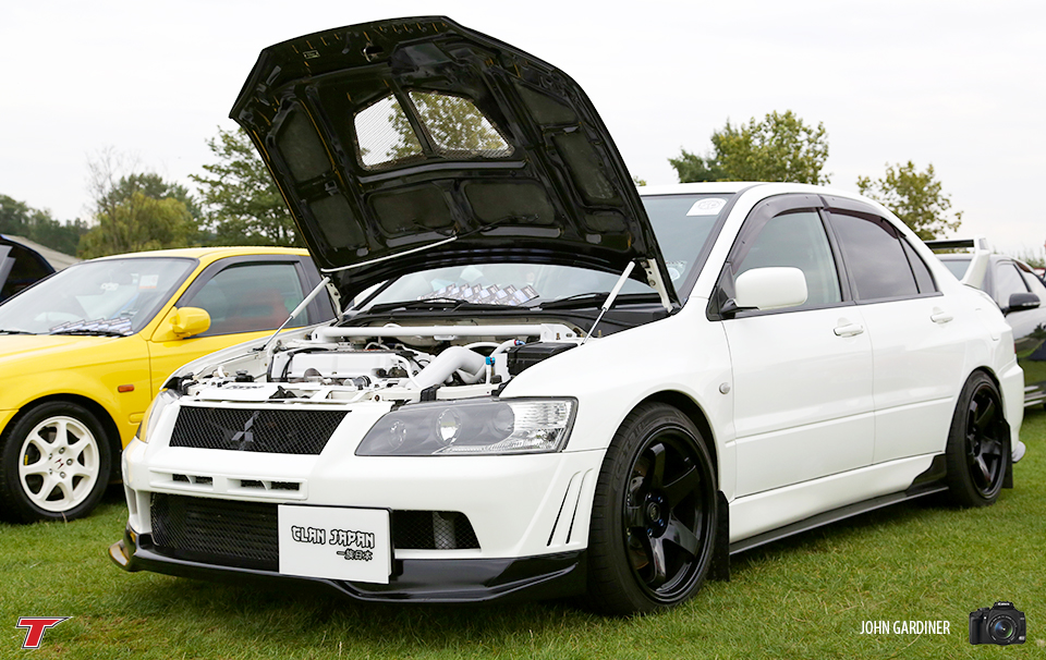 This Evo VII on stand with 'Clan Japan' had some excellent tuning mods combined with flawless exterior.